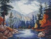Гоблен - Есен в планината