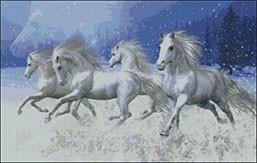 Гоблен - Нощем с белите коне