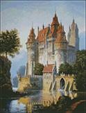 Гоблен - Замък с река