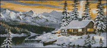 Гоблен - Зима в планината