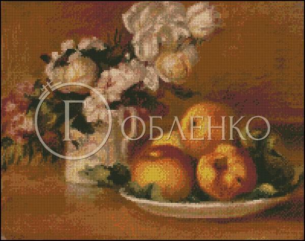 Ябълки и рози /Реноар/