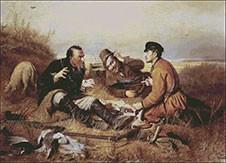 Гоблен - Ловци на почивка