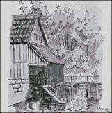 Гоблен - Мелница - графика