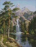 Гоблен - Водопад